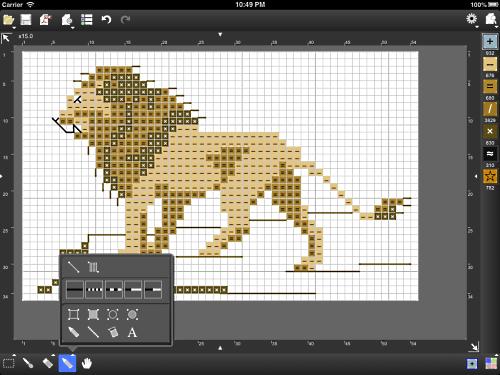 Knitting Drawing Software : Stitchsketch for cross stitch knitting pattern pixel