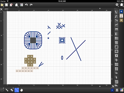 Backstitches/Fractional Stitches on StitchSketch